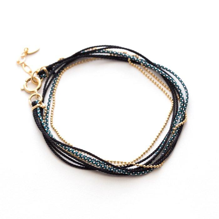 Kumihimo and Chain Bracelet - 04 (くみひもチェーンブレスレット - 04)