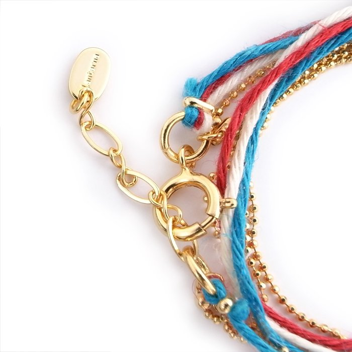 Hemp and Chain anklet / Necklace - French (ヘンプとチェーンアンクレット - フランス)