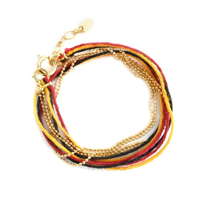 Hemp and Chain anklet / Necklace - German (ヘンプアンドチェーンアンクレット - ドイツ)