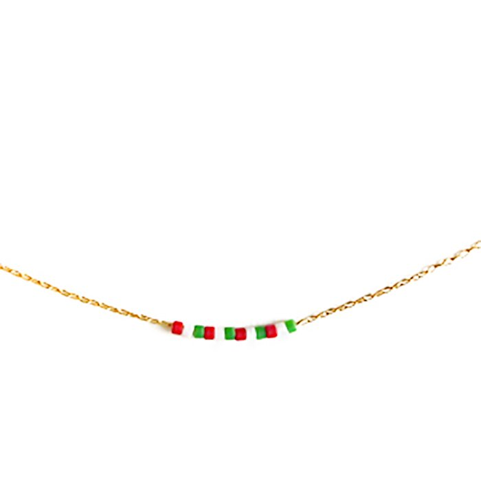 Skinny Beaded Necklace - Italian
