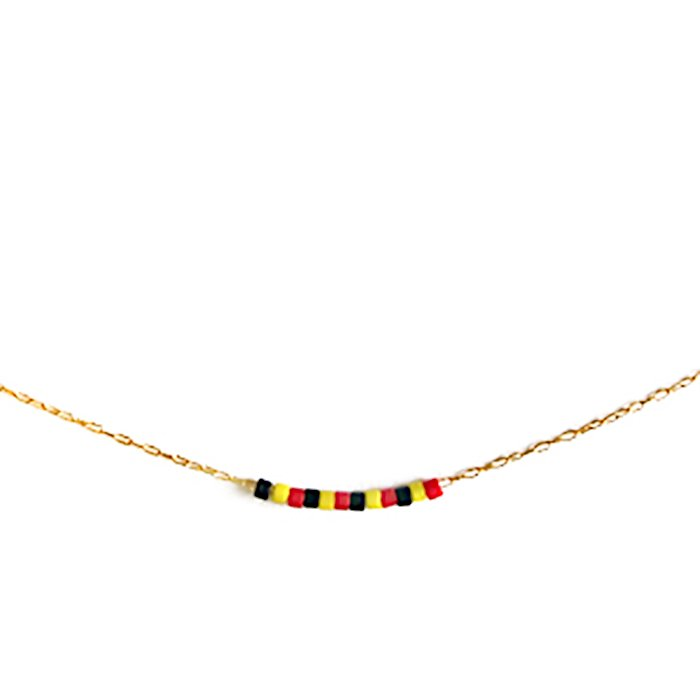 Skinny Beaded Necklace - German