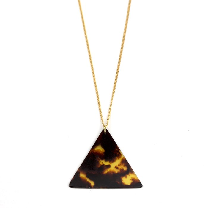 Celluloid Necklace - Tortoiseshell - Triangle(セルロイドネックレス べっ甲 三角)