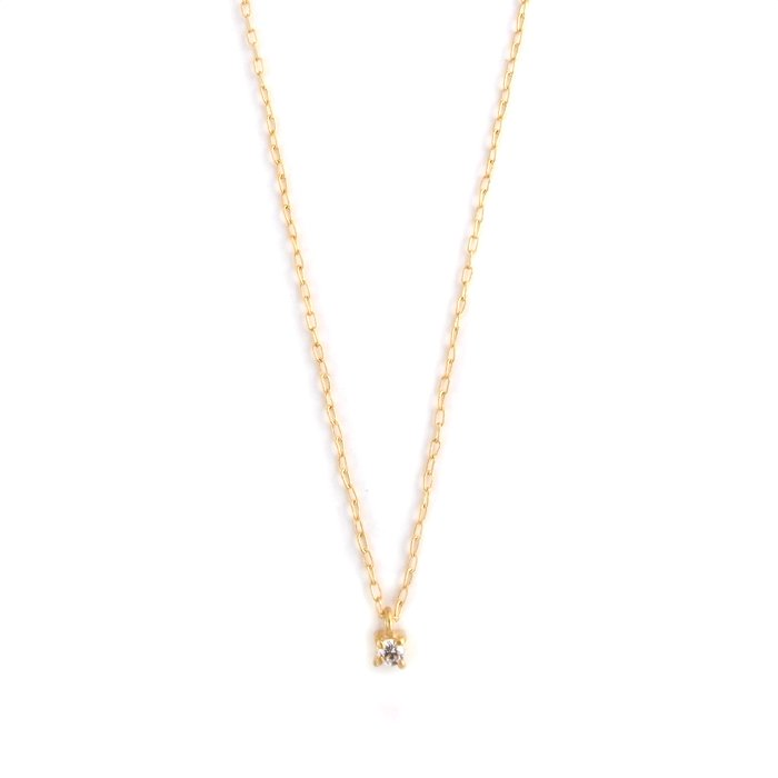Tiny Gem Necklace - Crystal