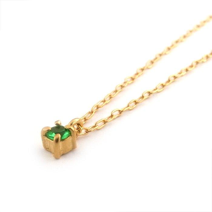 Tiny Gem Necklace - Emerald