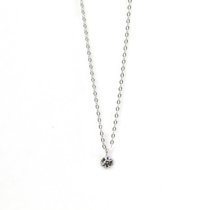 Small 1 Stone Necklace