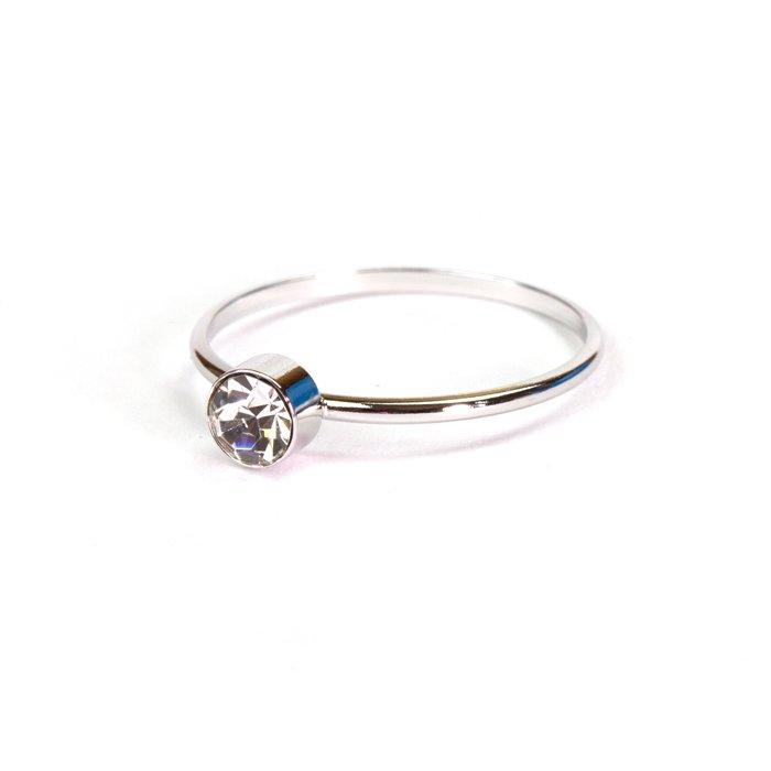 Small 1 Stone Ring(小粒スワロフスキーのリング)
