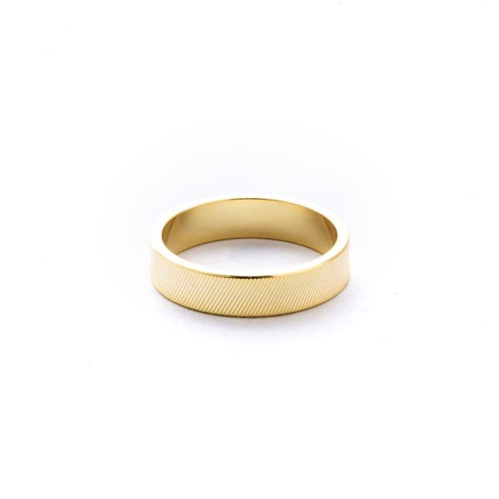 ダイアモンドカットのリング - バイアス(斜線)カット