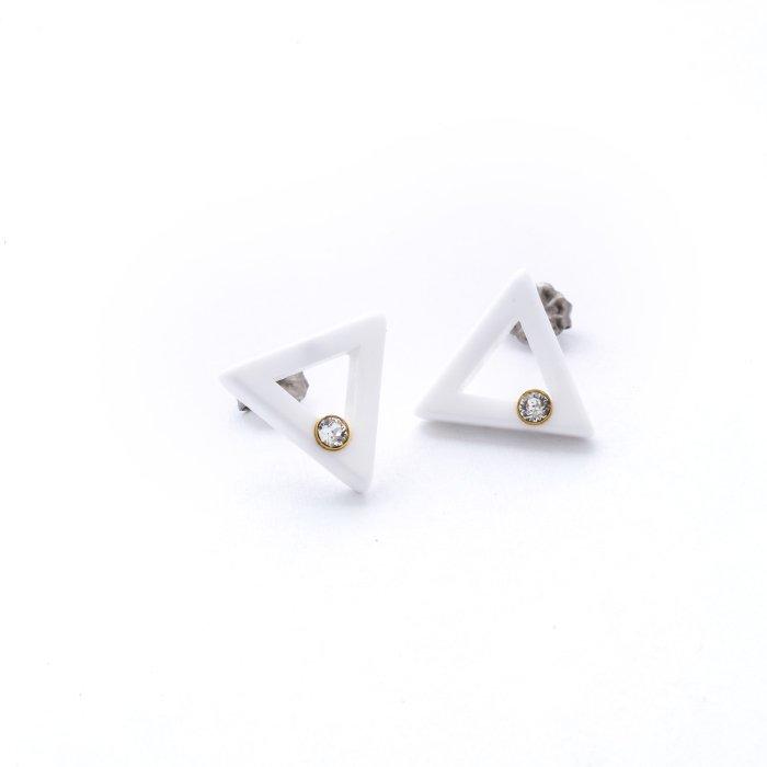 Acrylic 1 Stone Posts - Triangle (アクリル1ストーンピアス - トライアングル)