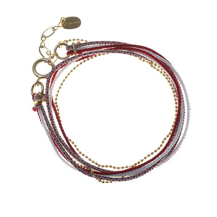 Kumihimo and Chain Bracelet - 05 (くみひもチェーンブレスレット - 05)