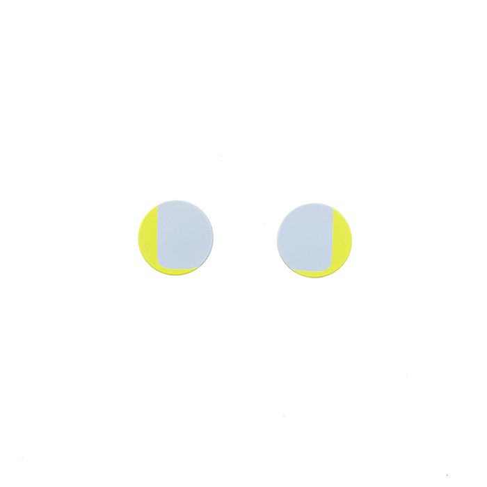 Silkscreen Printed Posts - 2Colors - 03(シルクスクリーンピアス - 2カラー 03)