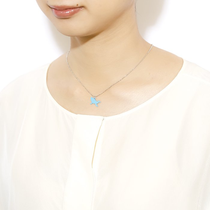 Safari Color Necklace - Whale (サファリカラーネックレス - クジラ)