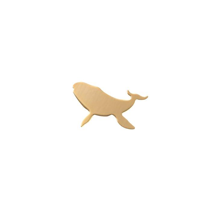 クジラモチーフのピアス・メタル