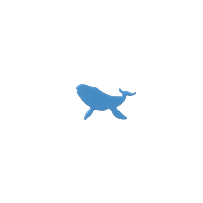 Safari Color Post - Whale (サファリカラーピアス - クジラ)