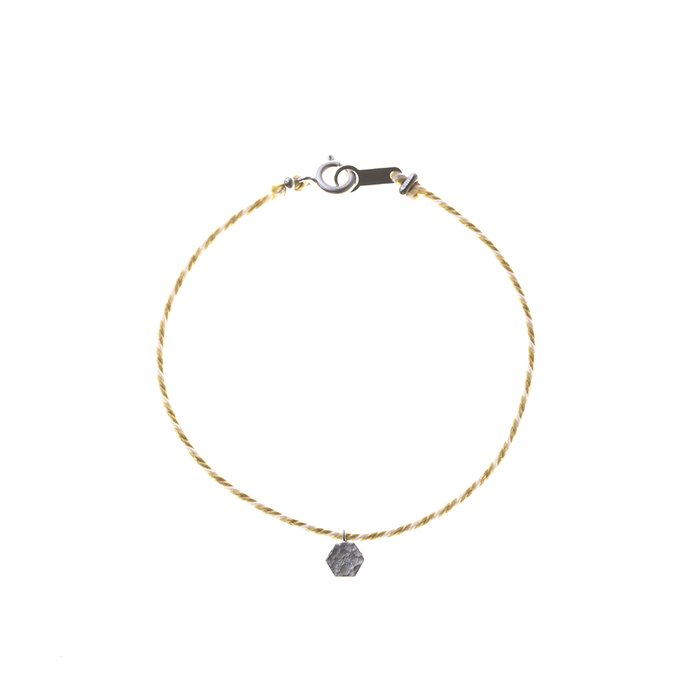 Tiny Honeycomb Kumihimo Bracelet(タイニーハニカムくみひもブレスレット)