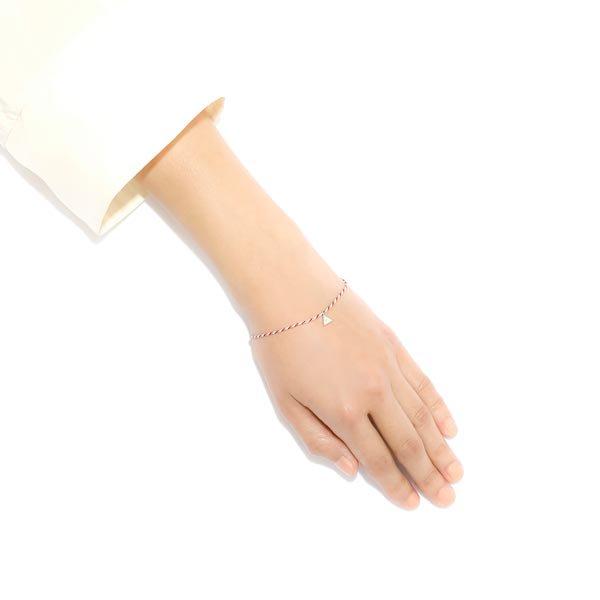 Tiny Triangle Kumihimo Bracelet(タイニートライアングルくみひもブレスレット)