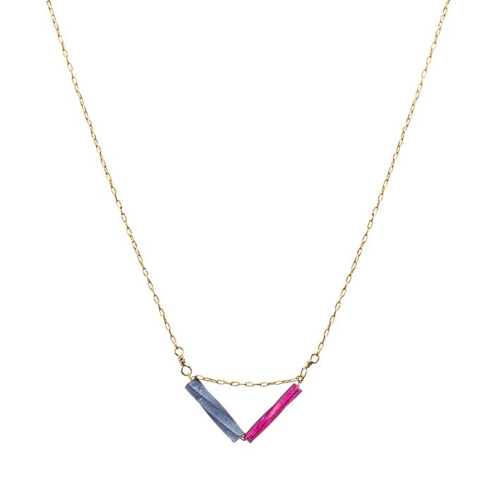 Triangle Beaded Necklace - 02 (トライアングルビーズネックレス)