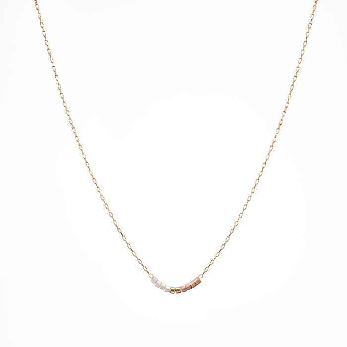 Skinny Beaded Necklace - 01 (スキニービーズネックレス)