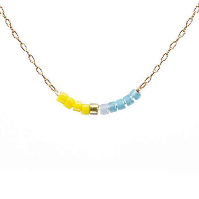 Skinny Beaded Necklace - 03 (スキニービーズネックレス)