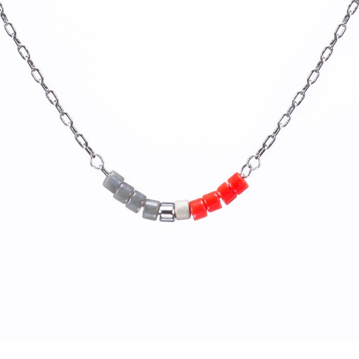 Skinny Beaded Necklace - 04 (スキニービーズネックレス)
