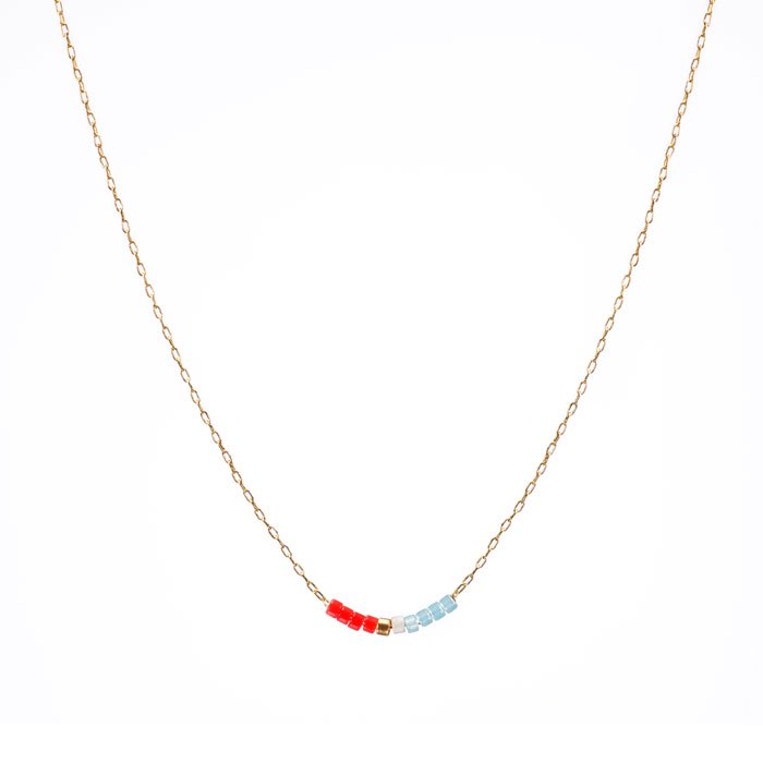 Skinny Beaded Necklace - 05 (スキニービーズネックレス)