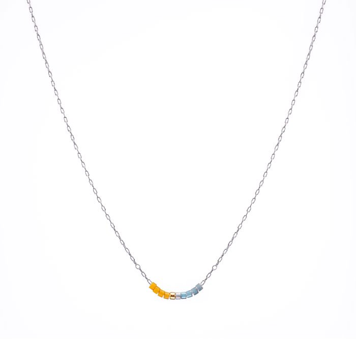 Skinny Beaded Necklace - 07 (スキニービーズネックレス)