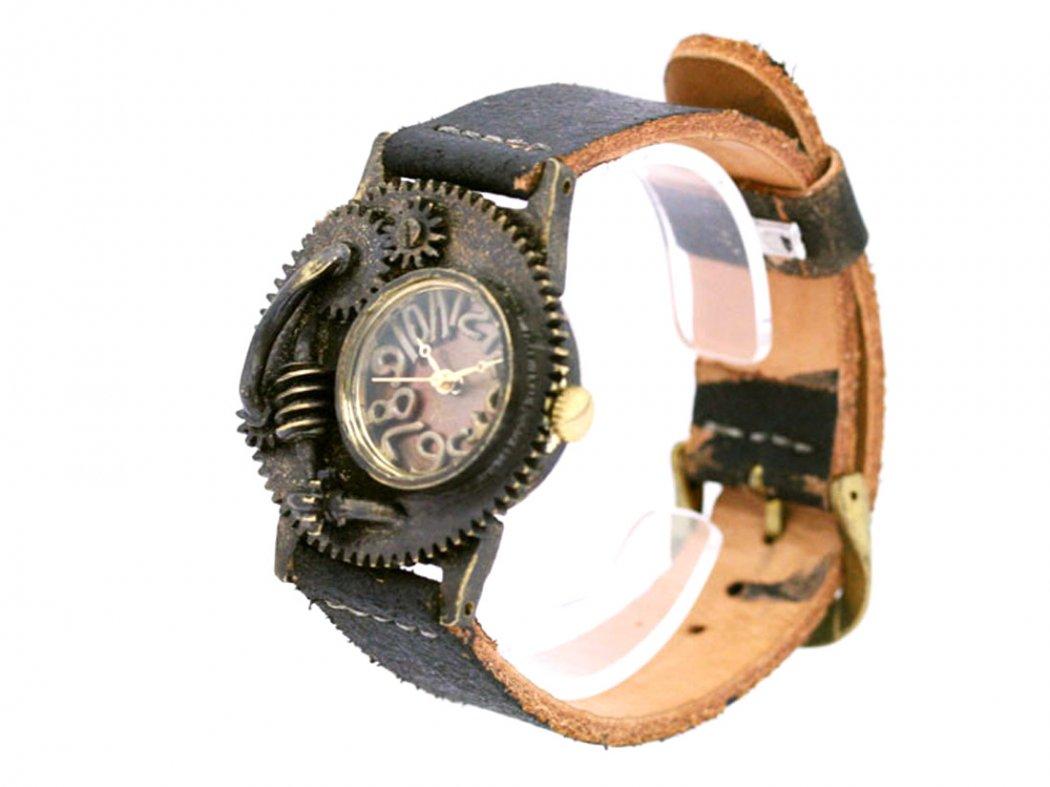 a721289bcd 手作り腕時計 無骨な歯車をモチーフにしたデザインウォッチ: 廃墟・SF・スチームパンク…手作り腕時計の世界