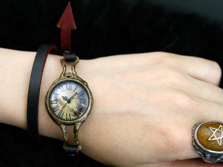 eve Double 手作り時計 ゴスロリ ゴシック ウォッチ