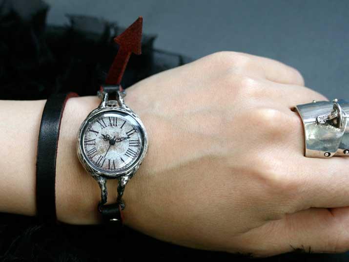 eve Double Silver 手作り時計 ゴスロリ ゴシック ウォッチ