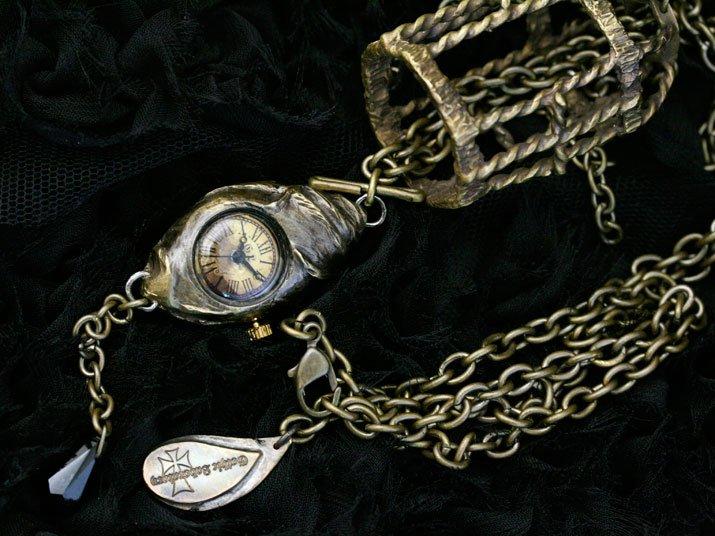cell 手作り時計 ゴスロリ ゴシック ウォッチ