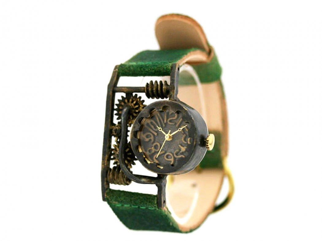 1ef53e9e86 手作り腕時計 むき出しの歯車にはみ出した文字盤が秀逸な孤高の腕時計: 廃墟・SF・スチームパンク…手作り腕時計の世界