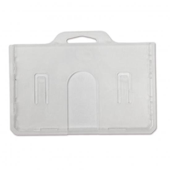 1枚用 ハードケース(横型/上入式/表面:クリア・裏面:乳白色仕上)AM-009