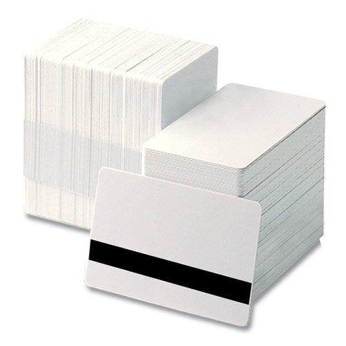 PVC 白無地カード(磁気テープ付き(ISO規格、2750エルステッド))(CV-80HE (PVC100%))