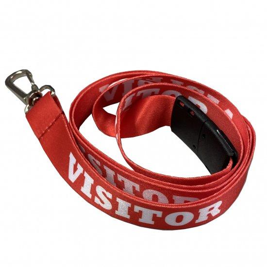 VISITOR印刷ありネックストラップ(来訪者用)赤