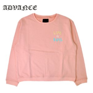 LIFE IS REAL CREW NECK / PASTEL PINK [ARS-5063]