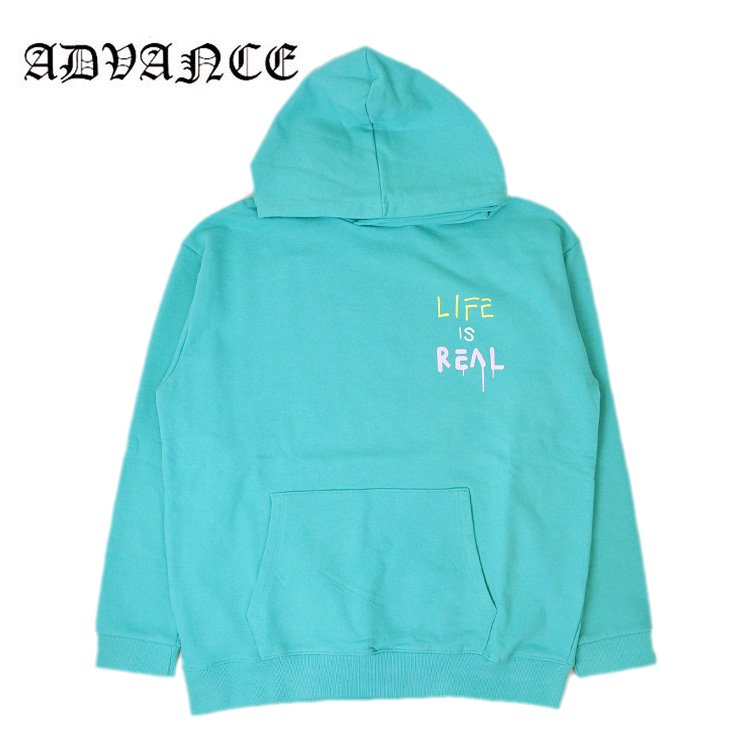 <img class='new_mark_img1' src='//img.shop-pro.jp/img/new/icons5.gif' style='border:none;display:inline;margin:0px;padding:0px;width:auto;' />LIFE IS REAL HOODIE / TIFFANY BLUE [ARS-5065]