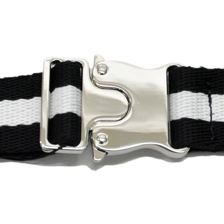 COLOR GI BELT / BLACK×WHITE [180B-002]
