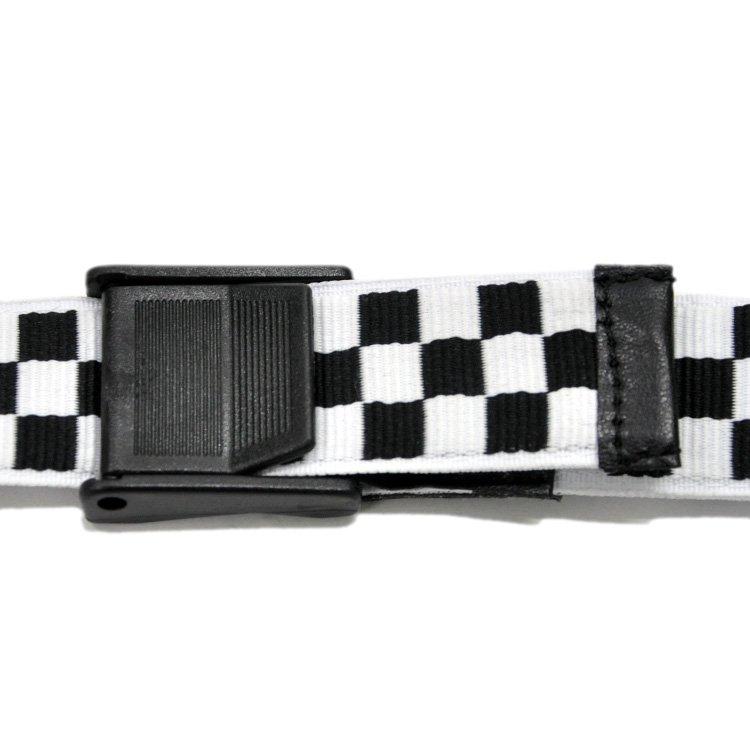 CHECKER BELT / BLACK×WHITE [180B-001]