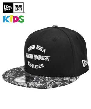 <img class='new_mark_img1' src='https://img.shop-pro.jp/img/new/icons5.gif' style='border:none;display:inline;margin:0px;padding:0px;width:auto;' />NEW ERA Youth 9FIFTY 60/40 クロス ペイズリー NEW ERA EST.1920 ブラック ブラックペイズリーバイザー 11556862