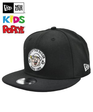 <img class='new_mark_img1' src='https://img.shop-pro.jp/img/new/icons5.gif' style='border:none;display:inline;margin:0px;padding:0px;width:auto;' />NEW ERA Youth 9FIFTY POPEYE(R) ポパイ(R) サークル アップリケ ブラック 11557901