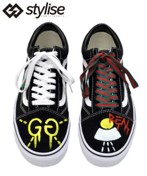 <img class='new_mark_img1' src='https://img.shop-pro.jp/img/new/icons5.gif' style='border:none;display:inline;margin:0px;padding:0px;width:auto;' />HAND PAINT CUSTOM VANS OLD SCHOOL model.1 / BLACK
