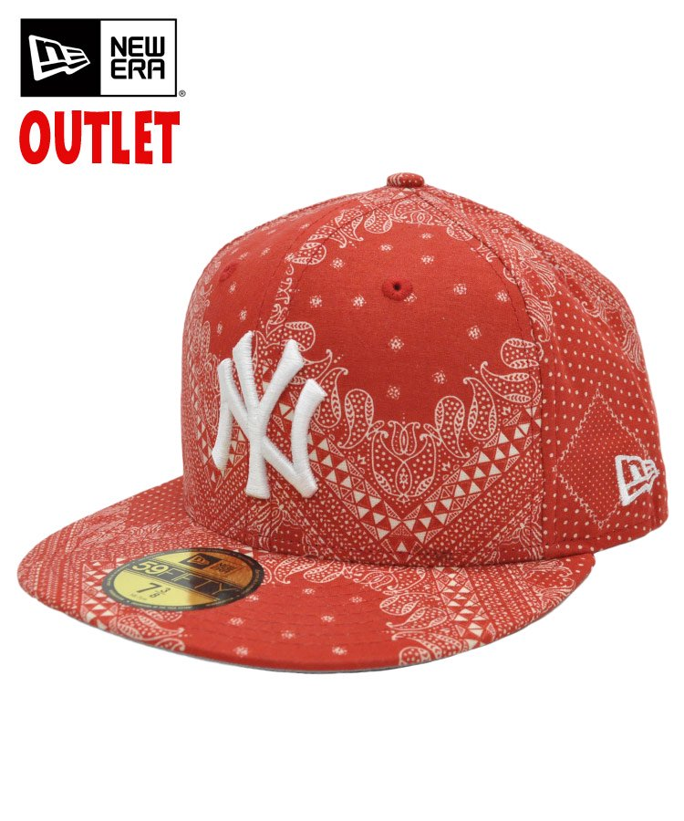 [OUTLET] 59FIFTY ペイズリー ニューヨーク・ヤンキース / レッド [11226261]