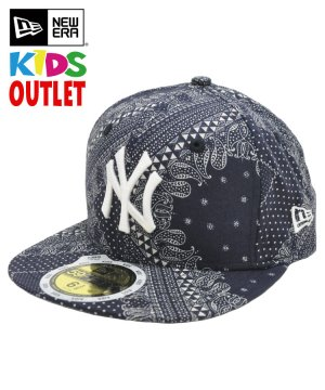 [OUTLET] Kid's 59FIFTY ペイズリー ニューヨーク・ヤンキース / ネイビー [11225811]
