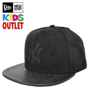 [OUTLET] Kid's Youth 9FIFTY スエードレザー ニューヨーク・ヤンキース / ブラック [11182782]