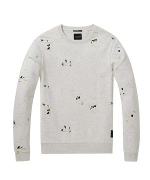 All-Over Embroidered Sweater / グレーメランジ [282-63851]