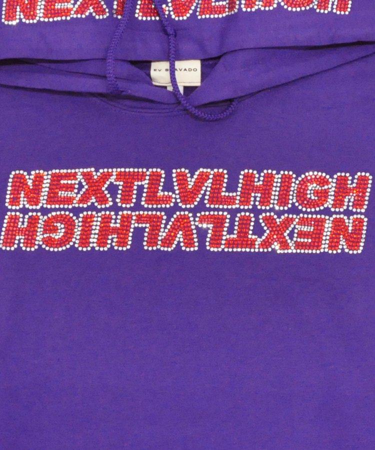 NEXT LV HIGH RHINESTONE HOODIE / パープル