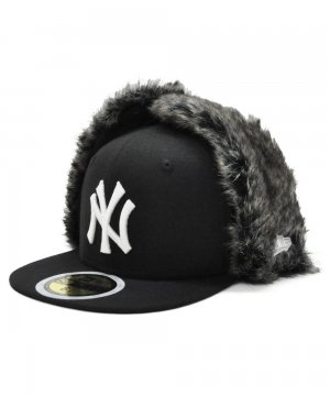 <img class='new_mark_img1' src='https://img.shop-pro.jp/img/new/icons61.gif' style='border:none;display:inline;margin:0px;padding:0px;width:auto;' />Kid's 59FIFTY Dog Ear ニューヨーク・ヤンキース / ブラック × ホワイト [11781115]