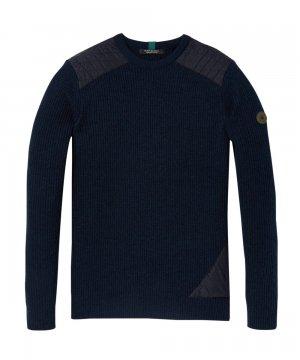 Rib Knitted Pullover / ネイビー [292-65440]