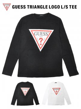 GUESS TRIANGLE LOGO L/S TEE / 2カラー [MI2K9415LS]