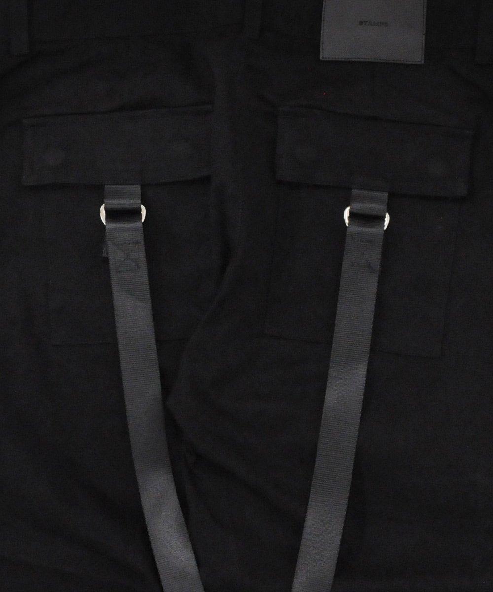 STRAPPED CARPENTER PANTS / ブラック [SLA-M1847PT]