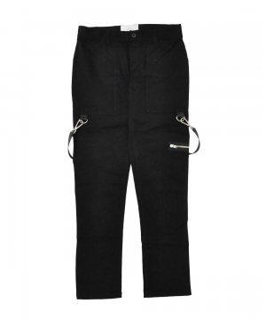 STRAPPED CARPENTER PANTS / ブラック [SLA-M1847PT]
